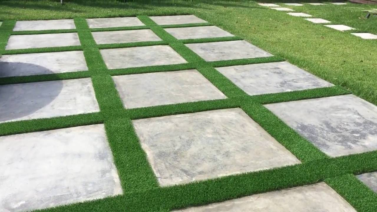 Artificial Grass Driveway Strips Youtube