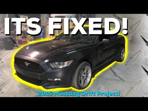IT'S FIXED! Salvage 2015 Ford  Mustang- 2018 MotionAutoTv Drift car build!