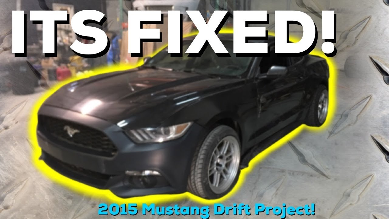 Salvage 2015 ford mustang 2018 motionautotv drift car build