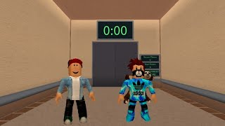 Playing ROBLOX on elevator map with my friend