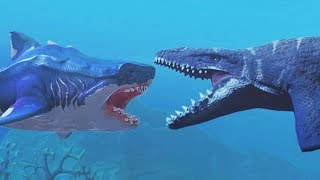 NEW MEGALODON vs MOSASAURUS - Feed and Grow Fish - Part 95 | Pungence