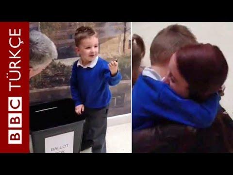 Seçim Sandığına Düşen Oyuncağını Geri Alma Mutluluğu - BBC TÜRKÇE
