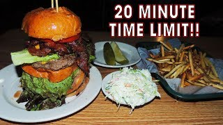 Competitive Eating Record Challenge w/ 5-Patty Burger Meal!!