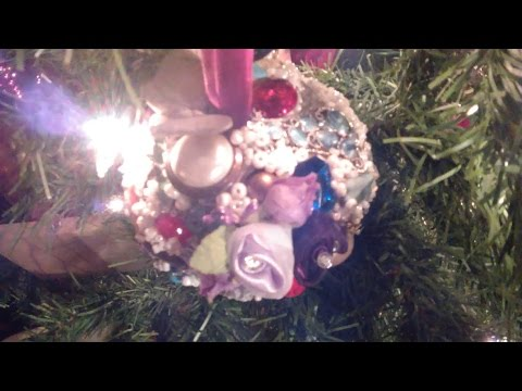 DIY~Recycled Bauble Ornament from Paper and Broken Jewelry~Milady Leela