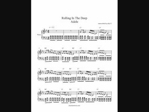 Rolling In The Deep - Adele - Piano Cover + SHEETS