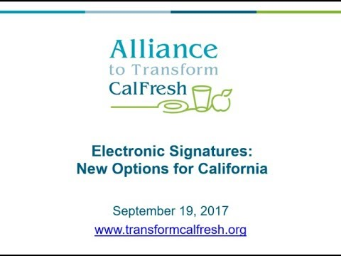 Electronic and Telephonic Signatures: New Options for California
