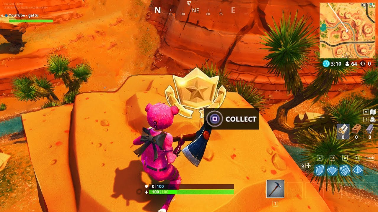 Search Between An Oasis Rock Archway And Dinosaurs Location Fortnite Season  Battle Star