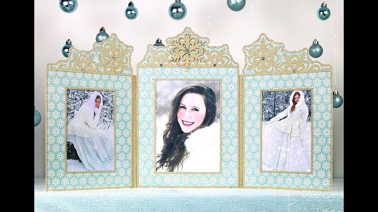 Snowflake Photo Frame Triptych Assembly - YouTube