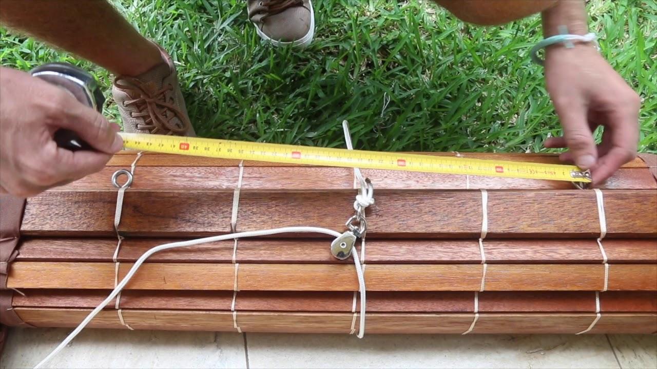 installation de stores exterieurs sur mesure en bois ou bambou storepei