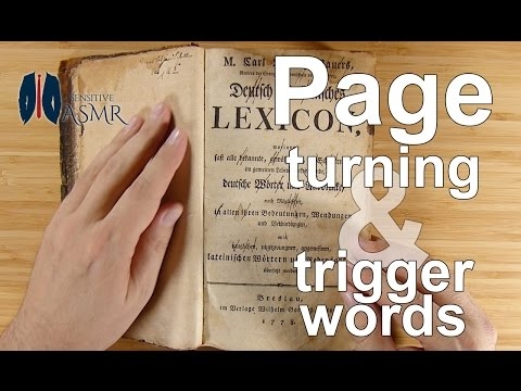 ASMR | Page Turning | Whispered Trigger Words