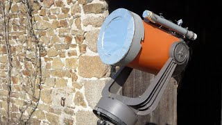How to make a lockable solar filter for a telescope