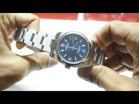 Rolex Oyster Perpetual 116000 36mm Blue One of the best looking Sports Rolex for small wrists
