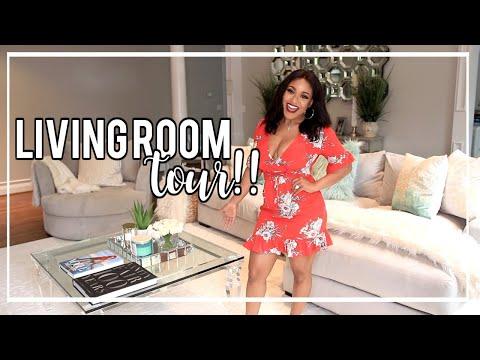 2019 Living Room Tour + Spring Inspiration #HouseToHome | NitraaB
