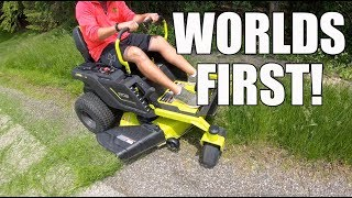 Lawn Mower - Ryobi Electric Zero Turn Mower - First Look
