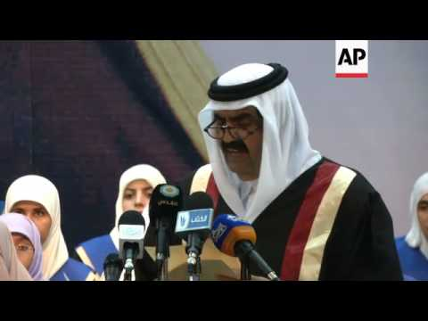 Emir of Qatar receives hero's welcome during landmark visit to Gaza