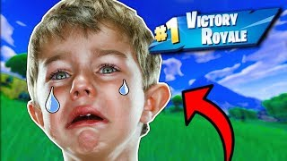 *EMOTIONAL* FAN CRIES the ENTIRE MATCH! (Fortnite - Battle Royale) Real?