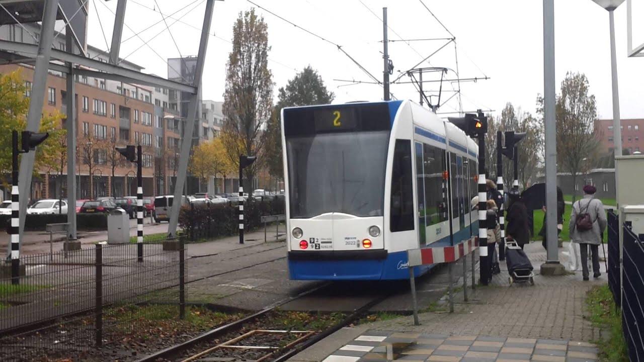 GVB Amsterdam Combino Tram 2 vanuit Kasterleepark naar Nieuw Sloten   YouTube