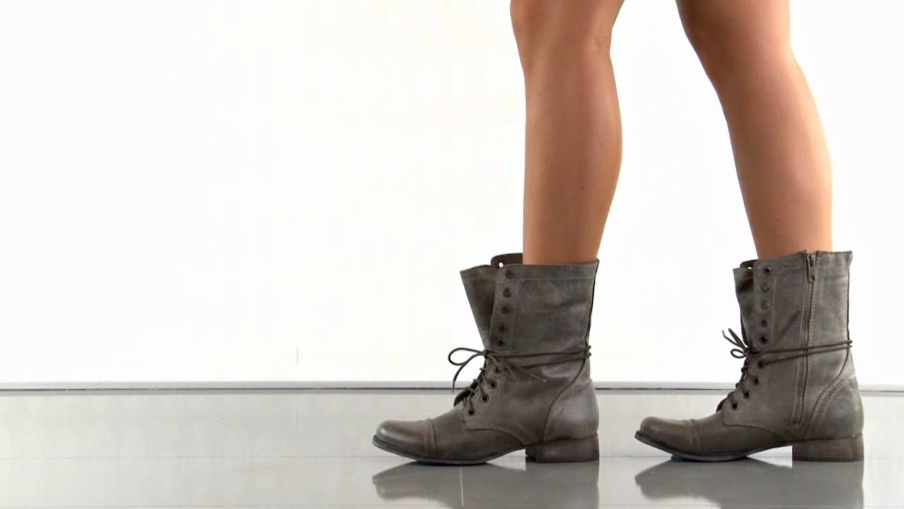 3d6803f3a771e Troopa in Stone Leather Steve Madden - YouTube