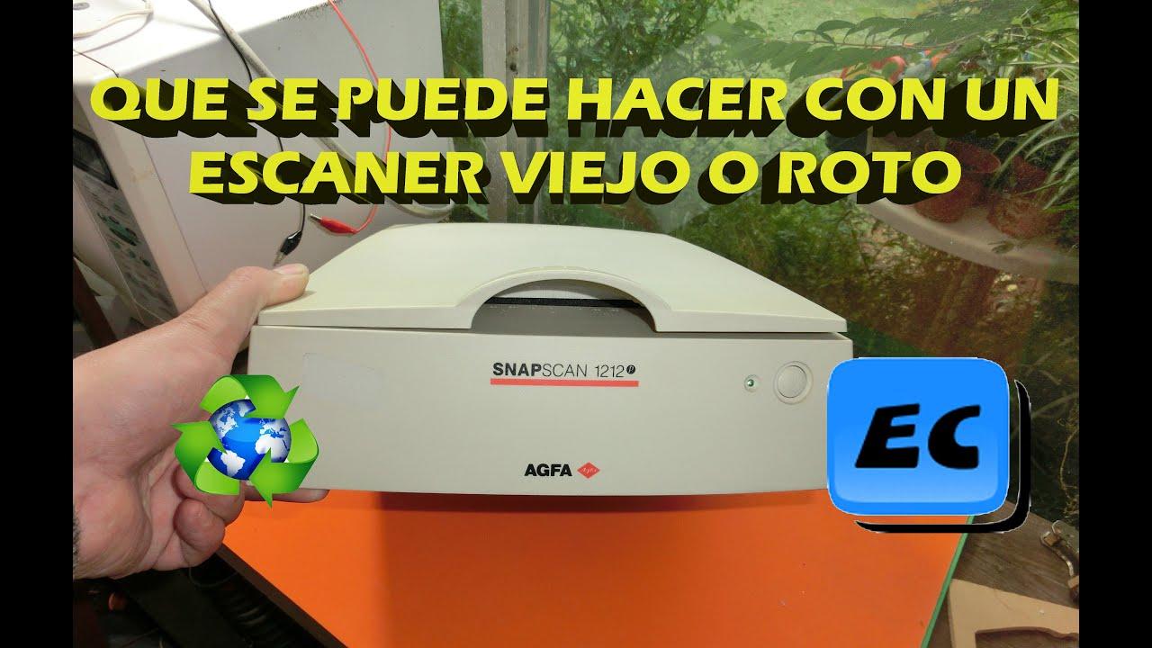 que se puede hacer con un escaner viejo o roto reciclado