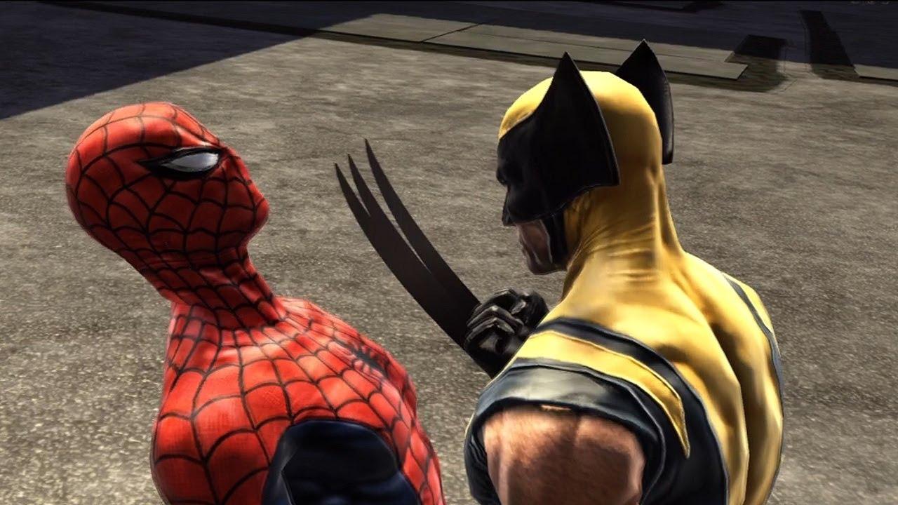 spider-man web of shadows wolverine ile ilgili görsel sonucu