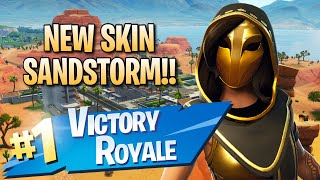 New Sandstorm Skin!! 13 Elims!! - Fortnite: Battle Royale Gameplay