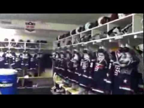 Team USA Locker Room Tour - Malmo Isstadion - 2014 IIHF World Junior Championship