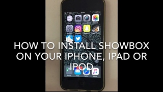 How to install showbox on iPhone, iPad or ipod.