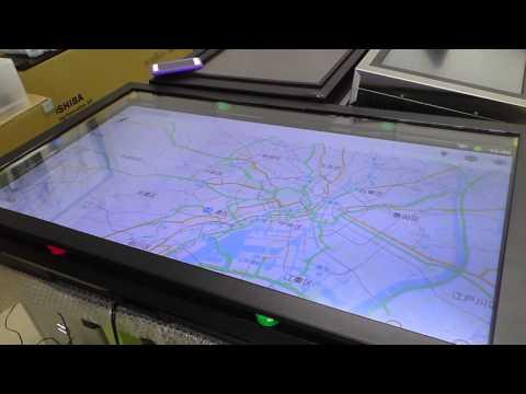 グーグルマップユーチューブを大画面で操作アンドロイドOSマルチタッチ