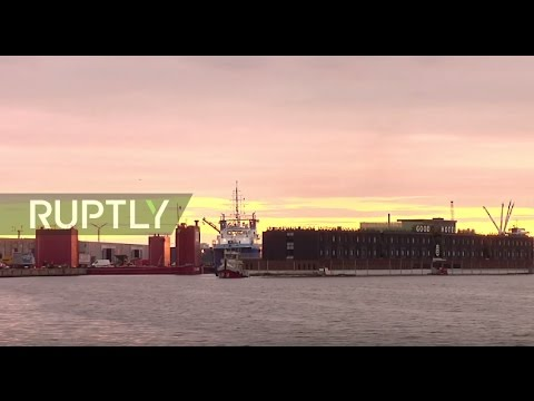 Netherlands: Massive floating hotel prepares for Amsterdam-London voyage