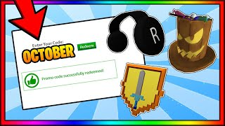 *OCTOBER 2019* ALL WORKING PROMO CODES | ROBLOX