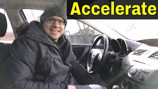 How To Accelerate In A Car (Smoothly And Safely)-Beginner Driving Lesson