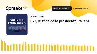 G20, le sfide della presidenza italiana