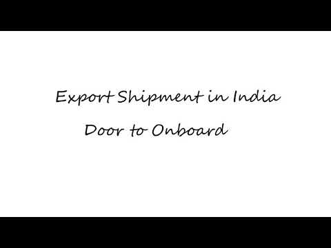 Export shipment in India. Illustrated through animation.