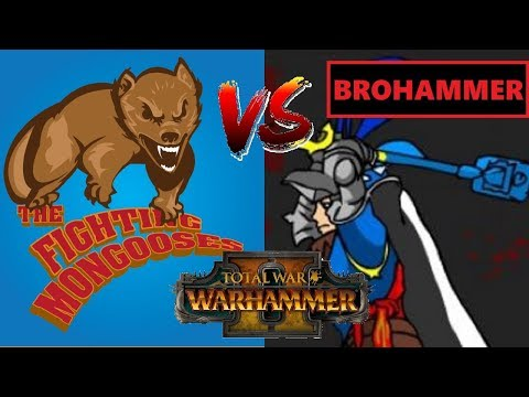 Fighting Mongooses vs Team Total Brohammer   Total War: Warhammer II 2v2 Tournament - Opening Round