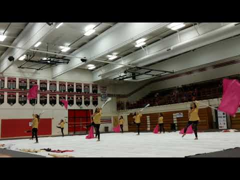 Santa Ana Valley High School Color Guard, WGASC Competition at Glendora High School, March 24, 2018.