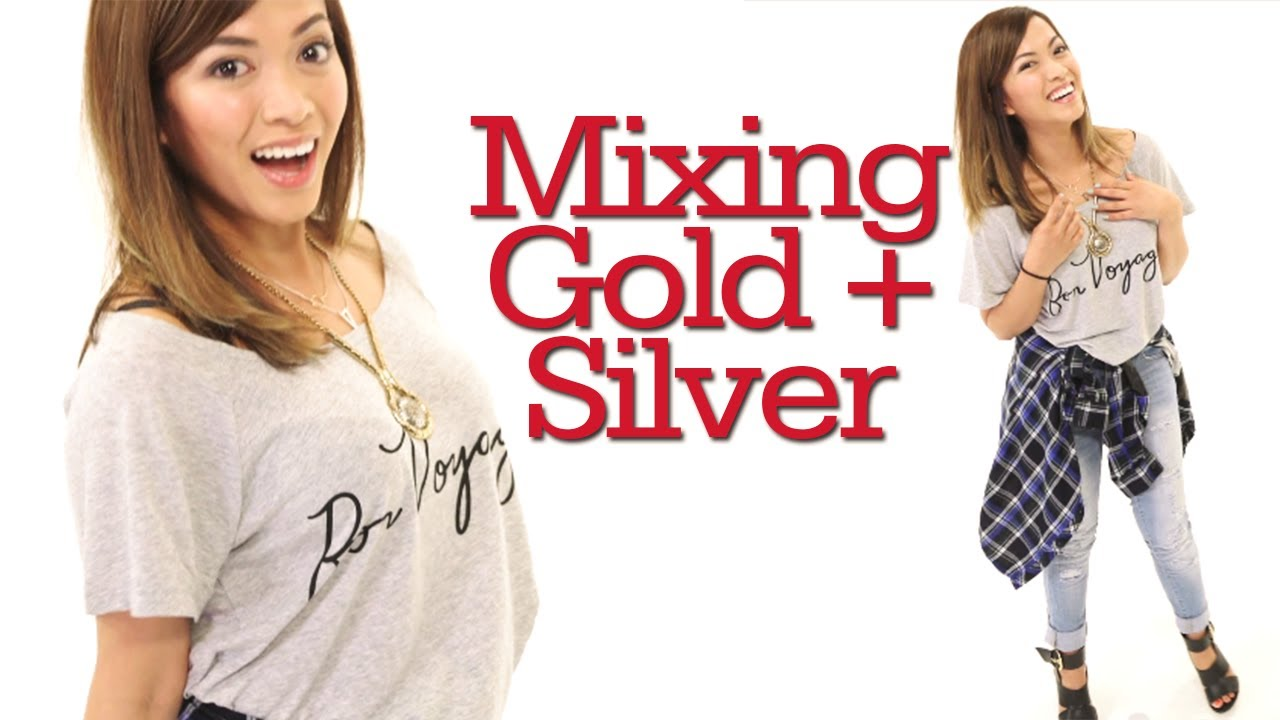 mixing gold and silver jewelry ootd with heart 17daily youtube