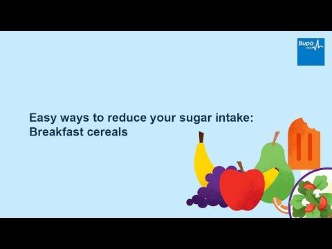 Easy ways to reduce your sugar intake: Breakfast cereals