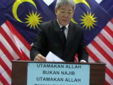 Matthias's Official Statement On Acquittal. His Call To Najib: Turn Your Back On Evil.