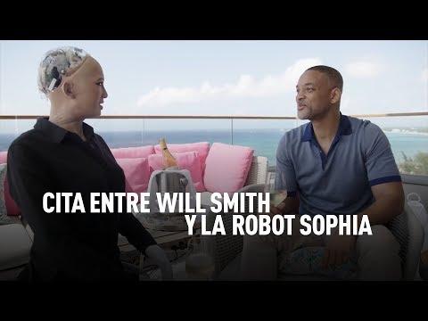 Cita entre Will Smith y la robot Sophia