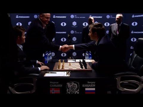 World Chess Championship 2016 Carlsen v Karjakin Game 1