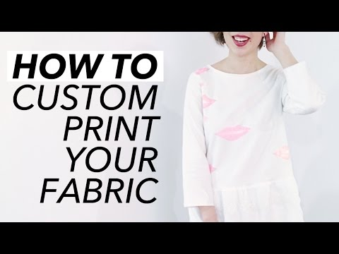How to Custom Print Your Fabric (Stamping + Quick Tutorial!) | WITHWENDY