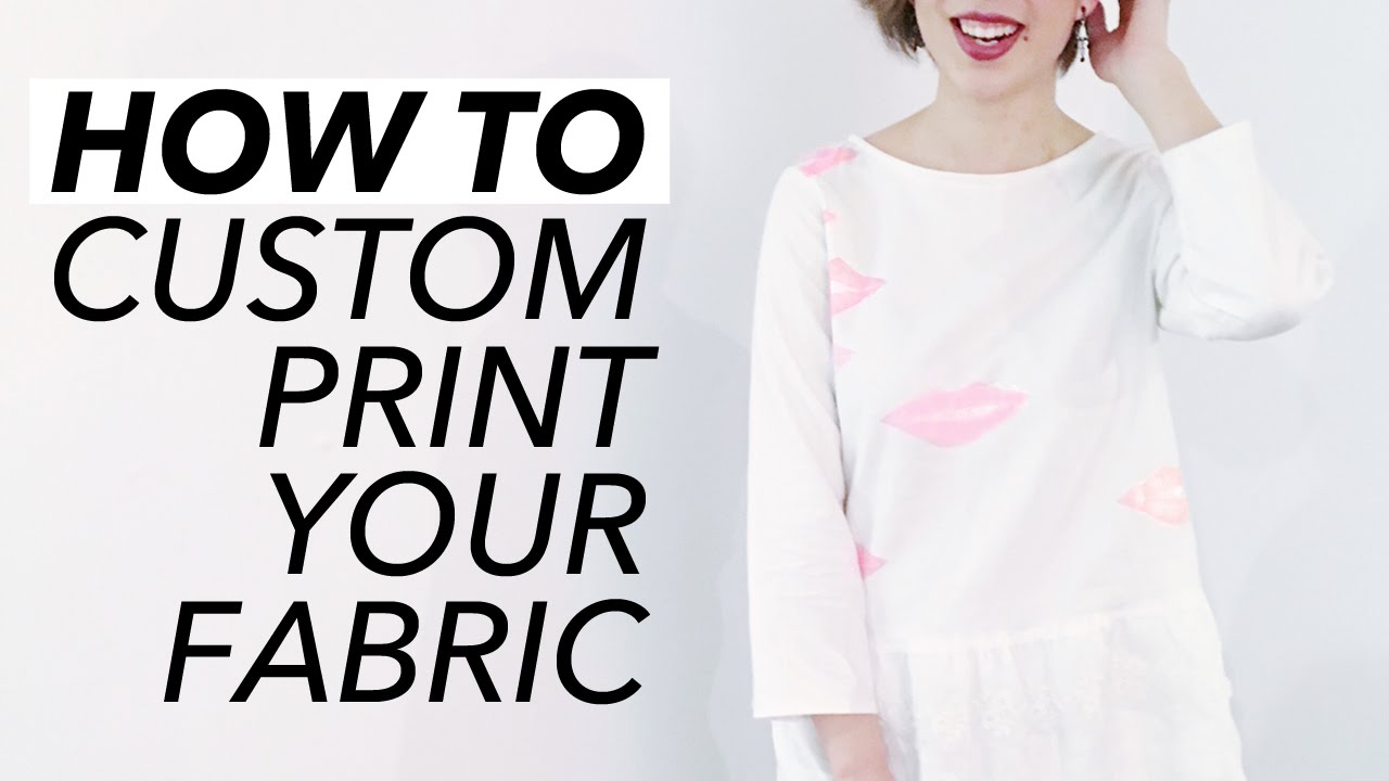 How To Custom Print Your Fabric Stamping Quick Tutorial