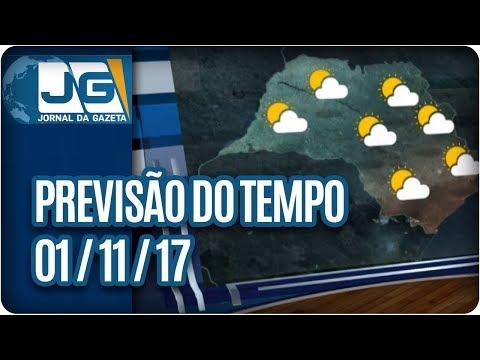 Previsão do Tempo - 01/11/2017