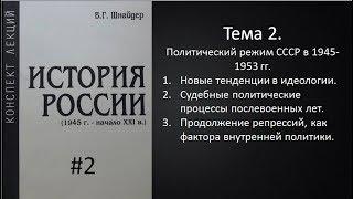 Тема 2. Политический режим в СССР в 1945-1953 гг.