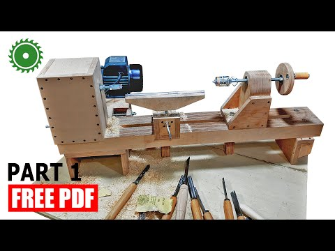 Wooden Lathe Making  - DIY