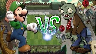 Luigi vs (Plants vs Zombies) | Juego Random