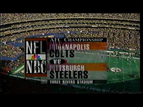 1995 AFC Championship Colts @ Steelers intro featuring Dick Enberg. The best