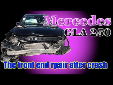 Mercedes GLA 250. The Front End Repair. Ремонт переда.