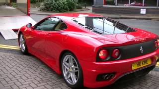 ferrari 360 being delivered