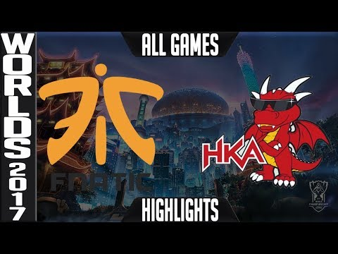 Fnatic vs Hong Kong Attitude Highlights ALL GAMES S7 Worlds 2017 Play in Grand Final FNC vs HKA